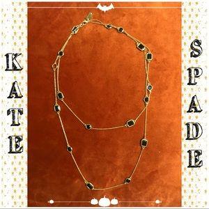 Kate Spade Black/Gold Long Strand Necklace